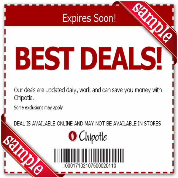 picture regarding Chipotle Printable Coupon identified as Chipotle Mexican Grill Printable Coupon December 2016