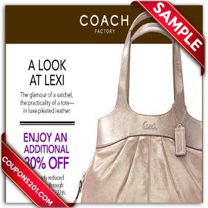 Coach coupon printable