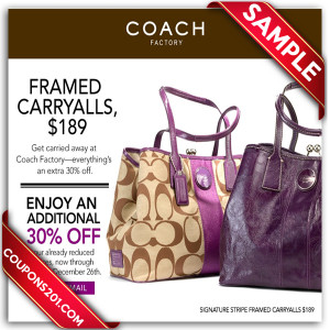 Coach coupons free printable