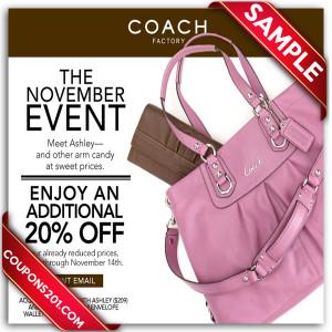 Coach discount coupon