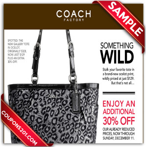 Coach discount coupons