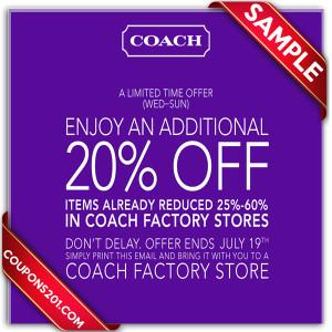 Coach free coupon