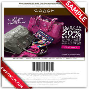 Coach free coupons