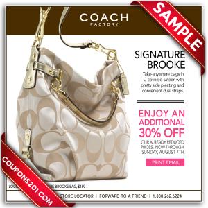 Coach free promo coupon
