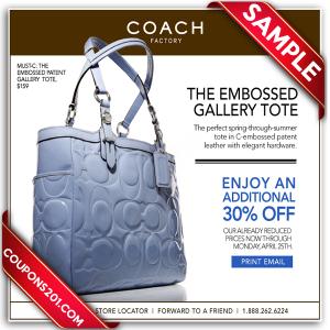 Coach printable coupon promo