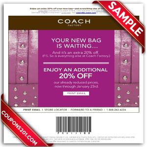 Coach printable coupons