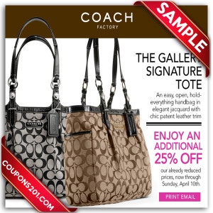 Coach printable coupons free