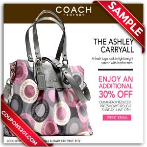 Coach promo coupon