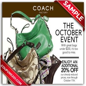 Coach promo coupons