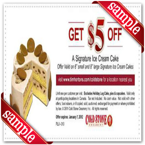 Cold Stone Cakes Coupons Printable