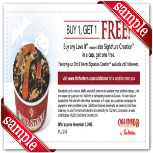 Cold Stone Creamery offers a rewards program through their website called the Cold Stone Club. Members periodically receive exclusive coupons, promotions, and information on events and new products. Cold Stone Club members also have the chance to win prizes all year%().