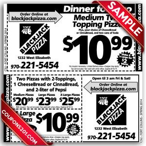 Coupon BlackJack Pizza