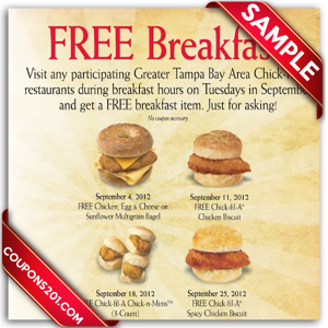Coupon Chick-Fil-A printables