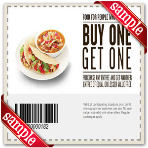 Coupon For Chipotle Mexican Grill Printable