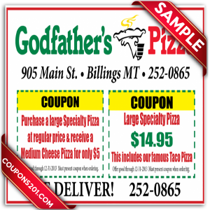 Coupon Godfather's pizza