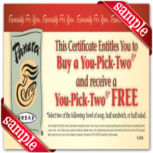 Coupon for Panera Bread Printable