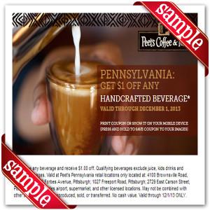 Coupon for Peet's Coffee & Tea Printable