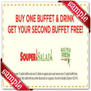 Coupon for Souper Salad Printable