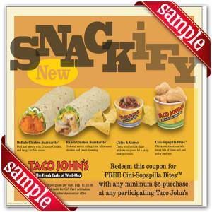 Coupon for Taco John Printable