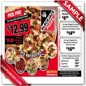 Free BlackJack Pizza Coupons