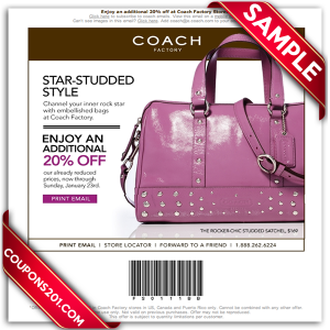 Free Coach printable coupons