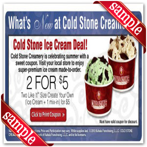 Cold stone printable coupons 2019