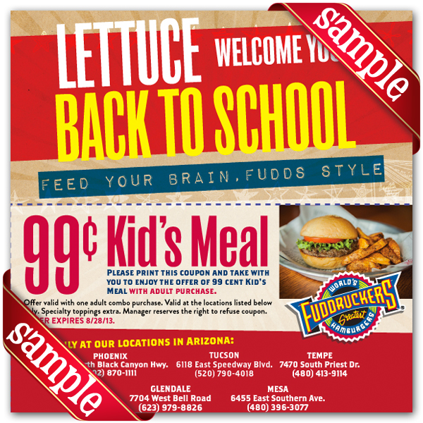 image about Fuddruckers Coupons Printable called Fuddruckers Printable Coupon December 2016
