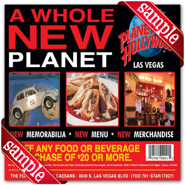 Planet hollywood coupons codes