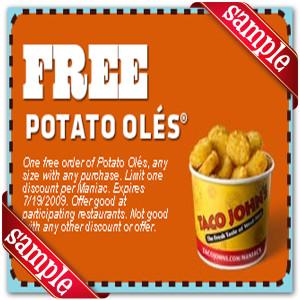 Free Printable Taco John Coupons