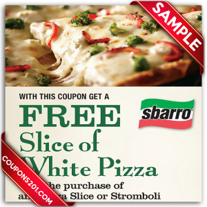 Free Sbarro coupon