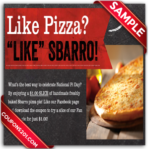Free Sbarro coupons