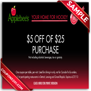 Save with 9 Applebee's coupons and sales for December, Today's top offer: $5 Off. Coupon Sherpa, #1 in coupons.