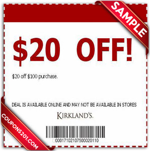 Free coupon Kirklands