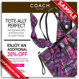 Free coupon for coach
