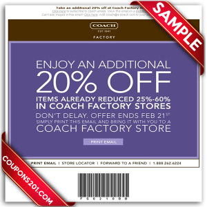 Free coupons for Coach