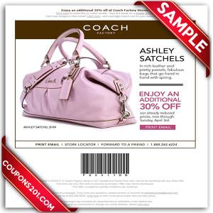 Free printable Coach Coupon