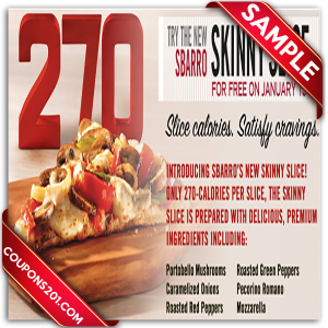 Free printable Sbarro Coupon