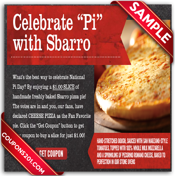 But that's not all Sbarro has mastered. Baked pasta, lasagna, spaghetti and an array of other meals are readily available and hot at Sbarro. Before you go all out with your order, you can get your favorite meal for less with an active coupon located on this page. From a free drink to a .