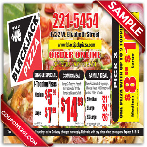 Retailmenot blackjack pizza