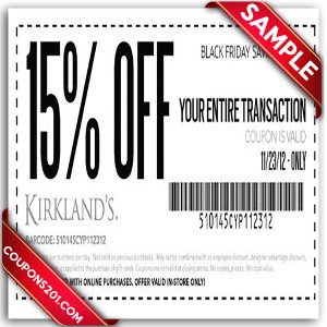 Free printable coupon Kirklands