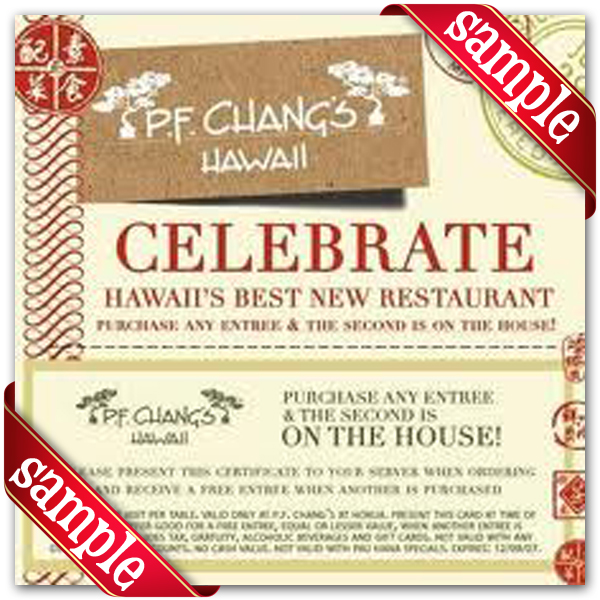 Pf Changs Coupons Code