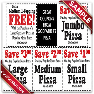 Godfather's pizza free coupon