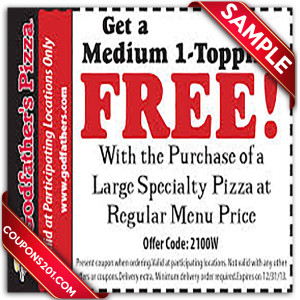 Godfather's pizza free coupons