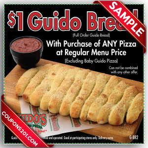 Guido's Pizza free coupon