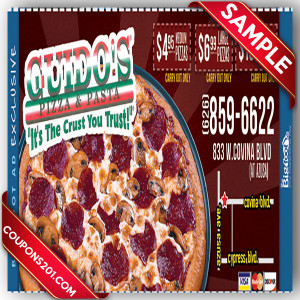 Guido's Pizza free coupons
