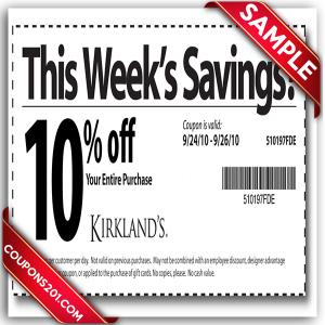 Kirklands Printable Coupon December 2016
