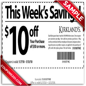 Kirklands free coupon