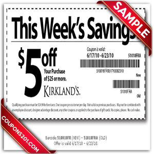 Kirklands printable coupon
