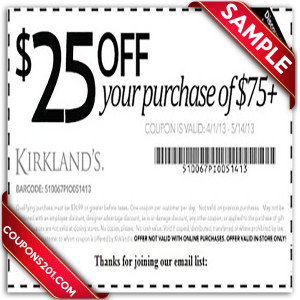 Kirklands printable coupon for free