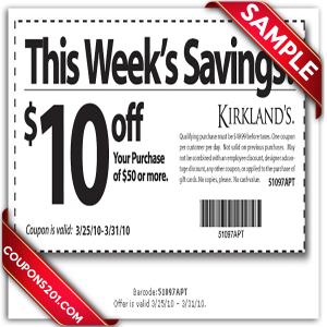 Kirklands printable coupon free